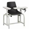 Clinton Industries Blood Drawing Chair Lab Series ClintonClean 1 Adjustable Flip Armrest Black, 1/ EA MON 975464EA