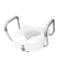 "Rehabilitation: Apex-Carex - Raised Toilet Seat with Arms E-Z Lock 5"" White 300 lbs."