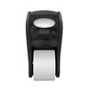McKesson Bath Tissue Dispenser Black Plastic Manual 2 Rolls Wall Mount, 1/CS MON 67134100
