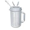 Whirley Thermo Mug 32 oz. Clear / Granite, 50EA/CS MON 68402900