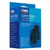 canes & crutches: Apex-Carex - Black Cane Tips (FGA72000 0000), 6/CS