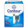 Glucose: Bayer - Blood Glucose Test Strip Contour® .6 Microliter Sample Size, 5 Second Test Time, End Fill or Top Fill, 50EA/BX