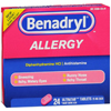 OTC Meds: Johnson & Johnson - Benadryl® 25 mg Strength Allergy Relief Ultratabs, 24 per Box