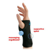 Brown Medical Wrist Splint IMAK SmartGlove Cotton Wrist, Hand Black Large MON 72123000
