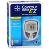 Glucose: Bayer - Blood Glucose Meter Contour® 5 Seconds Stores Up To 480 Results, 14-Day Averaging No Coding