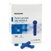 McKesson Lancet McKesson Twist Top Lancet Needle 1.8 mm Depth 28 Gauge Twist Top, 100/BX MON 72592400