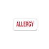 Carstens 3/4 x 1-1/2 Allergy Alert Label, 100EA/RL MON 16854700