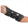DJO Wrist Splint B.A.T.H.® Double Contoured Canvas / Aluminum Palmar Stay Right Hand Black Small MON 355120EA