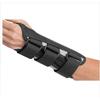 DJO Wrist Splint B.A.T.H.® Double Contoured Canvas / Aluminum Palmar Stay Left Hand Black Large MON 74873000
