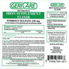 McKesson Iron Supplement (Ferrous Sulfate) Liquid 16 oz. MON 76302700