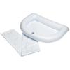 "Rehabilitation: Maddak - Shampoo Basin 0.5"" x 8"" x 12"" White (764301250)"