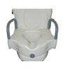 bathroom aids: McKesson - Raised Toilet Seat with Armrests sunmark® 5 Inch White 250 lbs.
