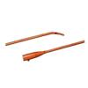 Bard Medical Urethral Catheter Bardia Coude Olive Tip Red Rubber 14 Fr. MON 80251910