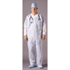 work wear: McKesson - Fluid-Resistant Coverall Medi-Pak™ Performance Large White Disposable