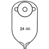 Nu-Hope Labs Urinary Pouch 11 Inch Length 7/8 Inch Stoma Round, 10EA/BX MON 82574900