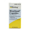 Rising Pharmaceuticals Probiotic Dietary Supplement RisaQuad™ Capsule, 30 per Bottle MON83672700