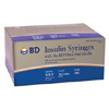 "needles: BD - Insulin Syringe with Needle BD Ultra-Fine® 0.5 mL 30 Gauge 1/2"" Attached Needle Without Safety, 100 EA/BX"
