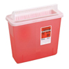 Hazardous Waste Control: Medtronic - SharpSafety™ In Room Sharps Container, Always Open Lid, Transparent Red, 3 Gallon