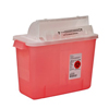 Medtronic SharpSafety™ Safety In Room Sharps Container Counterbalance Lid, Transparent Red 2 Gallon MON 85342800