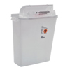 Medtronic SharpSafety™ Safety In Room Sharps Container Counterbalance Lid, Clear 3 Gallon MON 85362800