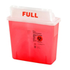 Medtronic SharpSafety™ Safety In Room Sharps Container Counterbalance Lid, Transparent Red 3 Gallon MON 85372800