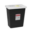 Cardinal Health SharpSafety™ RCRA Hazardous Waste Container Slide Lid, Black 12 Gallon MON 519511CS