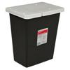 Cardinal Health SharpSafety™ RCRA Hazardous Waste Container Slide Lid, Black 8 Gallon MON 514204CS