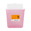 Medical Action Industries Multi-purpose Sharps Container Sharps® 1-Piece 9.5H X 10W X 7D Inch 2 Gallon Translucent Base Vertical Entry Lid MON 87042800