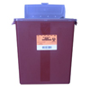 McKesson Multi-purpose Sharps Container Medi-Pak™ 2-Piece 13.5H X 12.5W X 6D 3 Gallon Red Base Horizontal Entry Lid MON 87102800