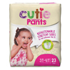 First Quality Youth Training Pants Cutie Pants Pull On 3T-4T Disposable MON 88883100