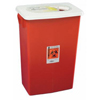 Hazardous Waste Control: Medtronic - SharpSafety™ Sharps Container, PGII, Gasketed Hinged Lid, Red, 18 Gallon
