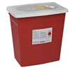 Cardinal Health SharpSafety™ Chemotherapy Container, PGII,Hinged Lid, Yellow, 12 Gallon MON 420055EA