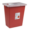 Medtronic SharpSafety™ Sharps Container Hinged Lid, Red 8 Gallon MON 89802800