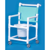 Innovative Products Shower Commode Chair With Arms PVC Mesh Backrest MON 91113500