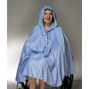 Skil-Care Shower Poncho Blue One Size Fits Most 23-1/2 Inch Back Front Opening MON 701143EA