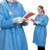 workwear: Medtronic - Protective Procedure Gown ChemoPlus Blue Large Adult Knit Cuff Disposable