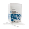 McKesson Flexible Drinking Straw 7.75 White Individually Wrapped MON 95501210