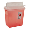 Medtronic SharpSafety™ Sharps Container, Horizontal Drop, Transparent Red, 2 Gallon MON 96712800
