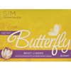 incontinence aids: Attends - Butterfly® Female Incontinence Body Liners, S/M, 28 EA/BX