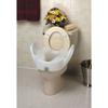 """Rehabilitation: Maddak - Raised Toilet Seat with Arms 11-1/2"""" White 300 lbs."""