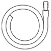 "Hollister: Hollister - Extension Tubing 18"" L, 11/32"" ID, Oval, Kink Resistant, With Connector"