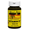 Vitamins OTC Meds Vitamin D: National Vitamin Company - Vitamin D-3 Supplement Nature's Blend 2000 IU Strength Tablet 100 per Bottle