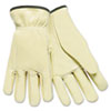 safety zone leather gloves: Memphis™ Full Leather Cow Grain Work Gloves