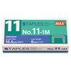 Max Max® No. 11 Mini Staples MXB NO111M