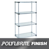 "steel shelving units: Nexel Industries - Steel Shelving Starter Unit, 4 Shelves, L 48""x W 18""x H 63"""