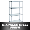 Nexel Industries Steel Shelving Starter Unit, 4 Shelves, L 36x W 24x H 74 NEX 24367SS