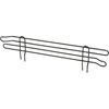 Nexel Industries Black Shelf Ledge, Size 4H x  18W NEX AL418B