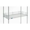 "metal shelving units: Nexel Industries - Chrome Shelf Ledge, Size 4""H x  18""W"