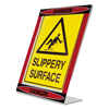 "Nu Dell NuDell™ Themed ""Danger"" L-Shaped Sign Holder NUD 35485DR"