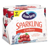 Juice and Spring Water: Ocean Spray® Sparkling Cranberry Juice
